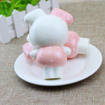 PU Slow Rising Squishy Toy Cute Rabbit - WHITE/PINK