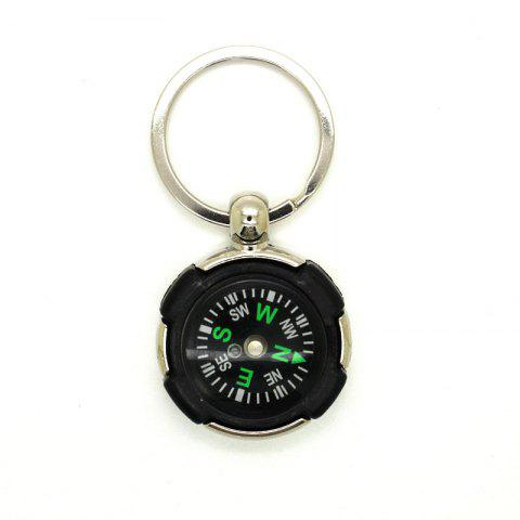 Creative Tyre Style Compass Key Chain - BLACK