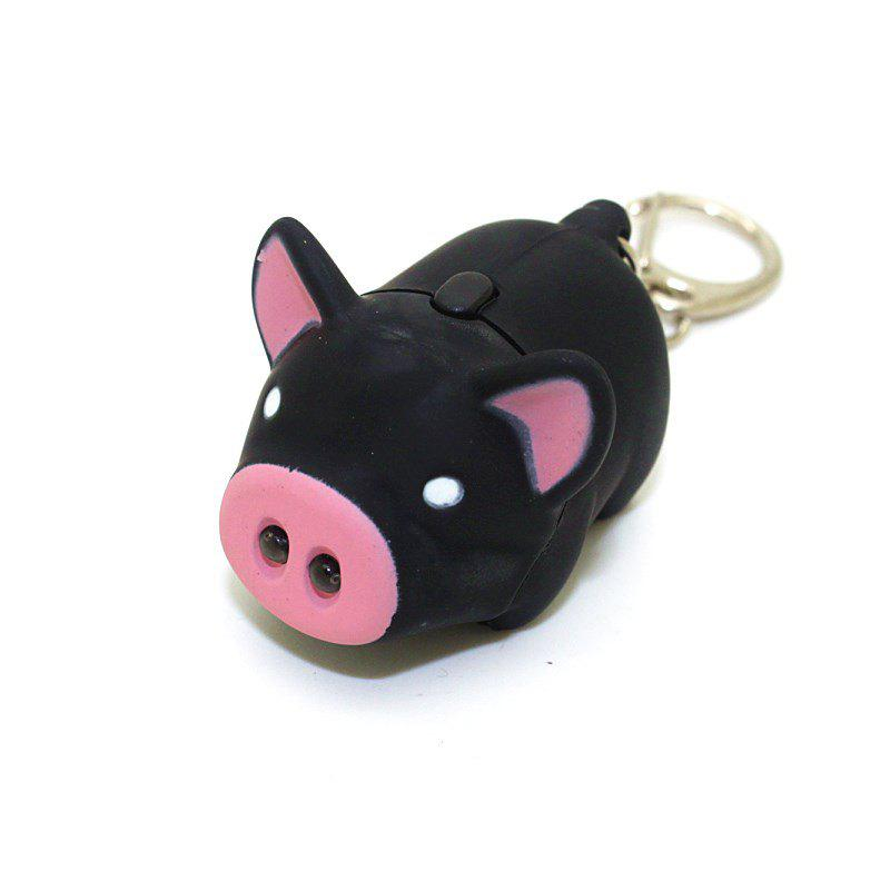 Cute Mini Pig Pendant with Light and Sound Key Chain 238129101