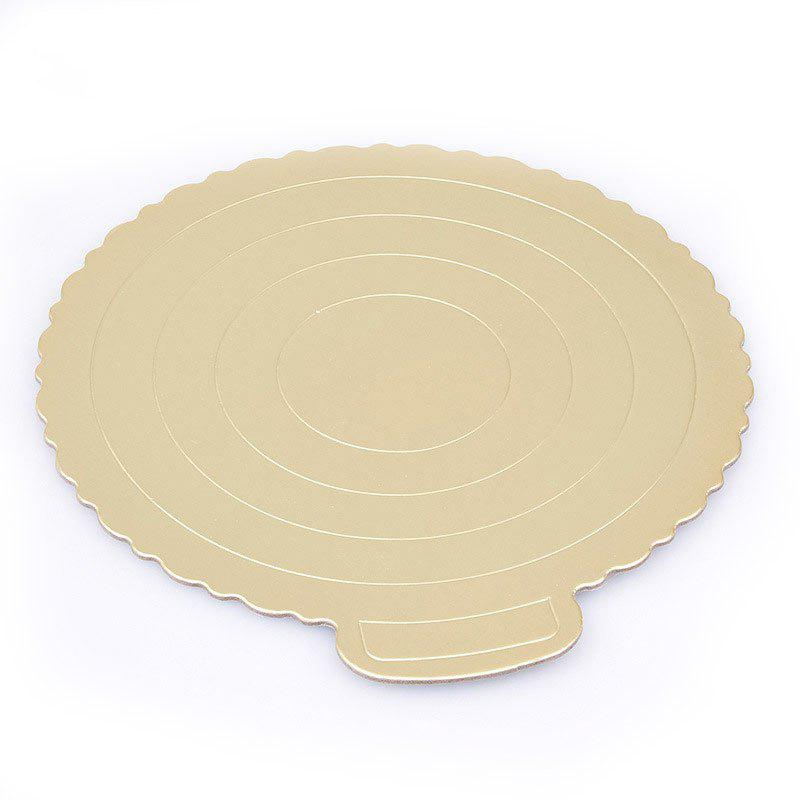 DIHE 6 inch Round Cake Bottom Base Golden Thickened Hard Paper 5PCS - GOLDEN