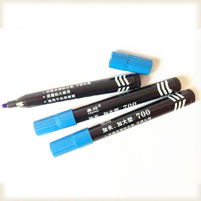 DIHE Wide Head Marking Pen Oily Pen Extensive Use - BLUE