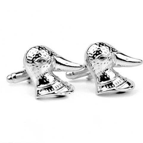 Men's Cufflinks Animal Shape Personality Lovely Cuff Buttons Accessory - SILVER