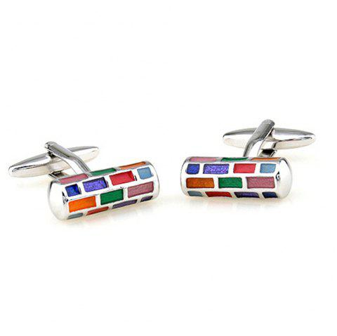 Men's Cufflinks Colorful Chic Cuff Buttons Accessory - COLORFUL