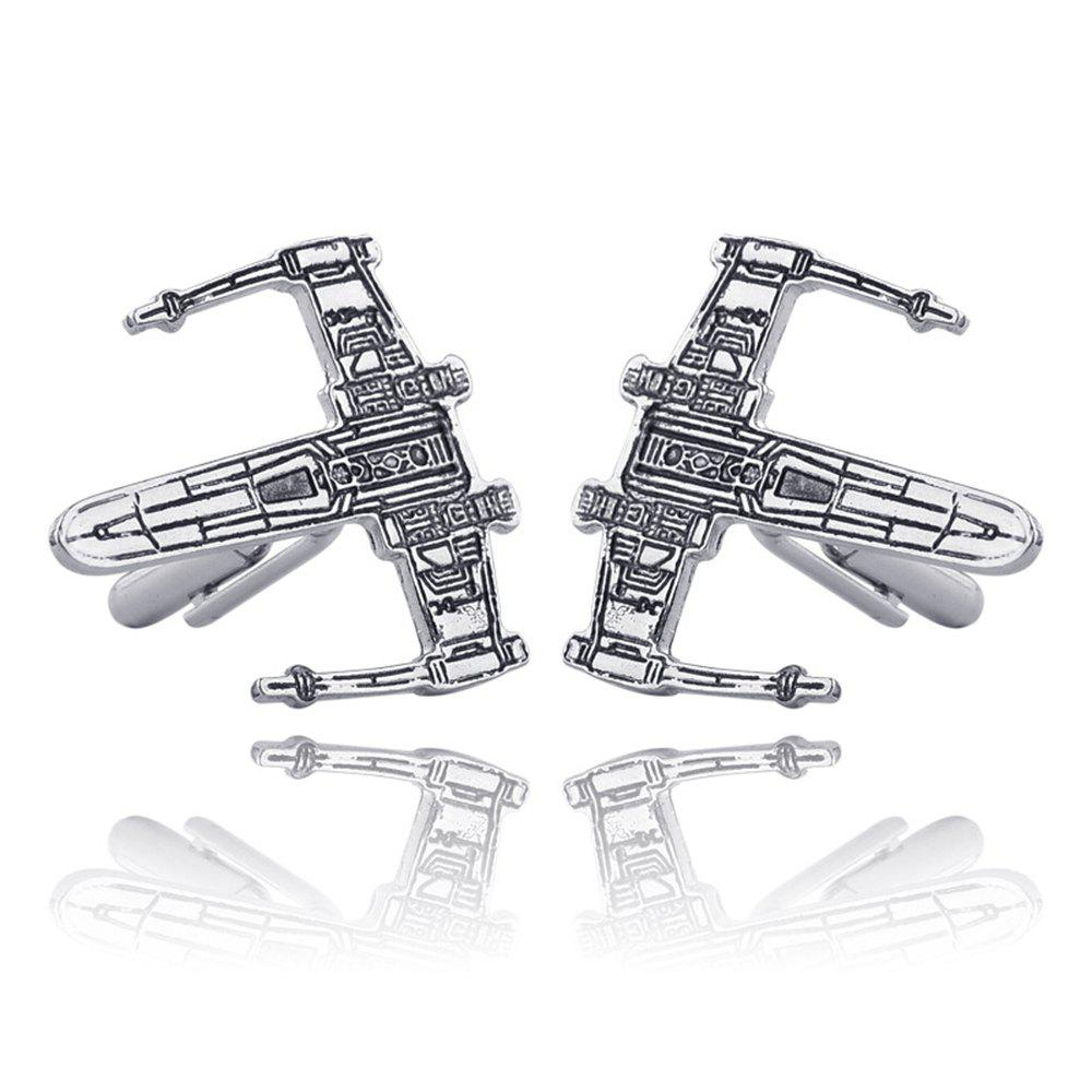 Men's Cufflinks Personality Unique Design Alloy Chic Cuff Buttons Accessory - SILVER