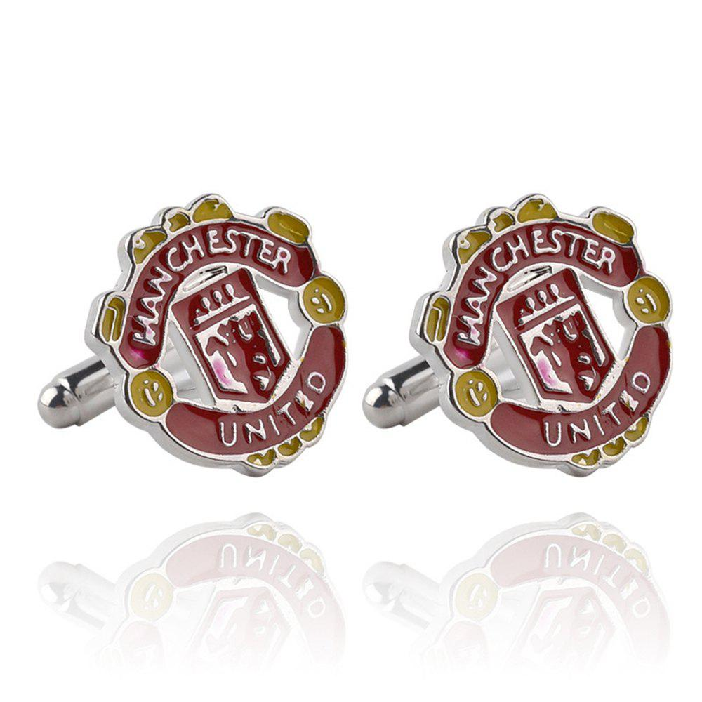 Men's Cufflinks Creative Design Letter Pattern Cuff Buttons Accessory - RED