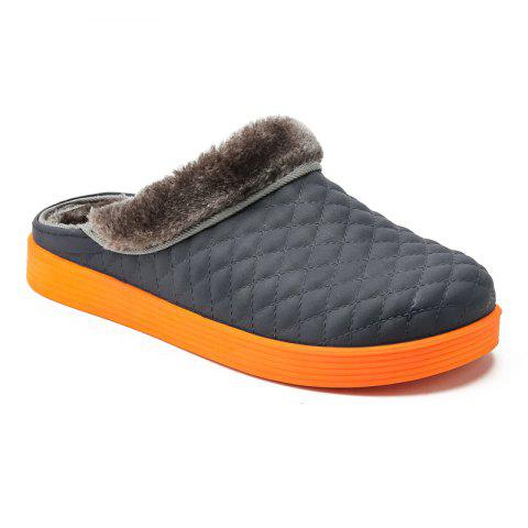 High Quality Winter Cotton-Padded Slippers - BLUE 40