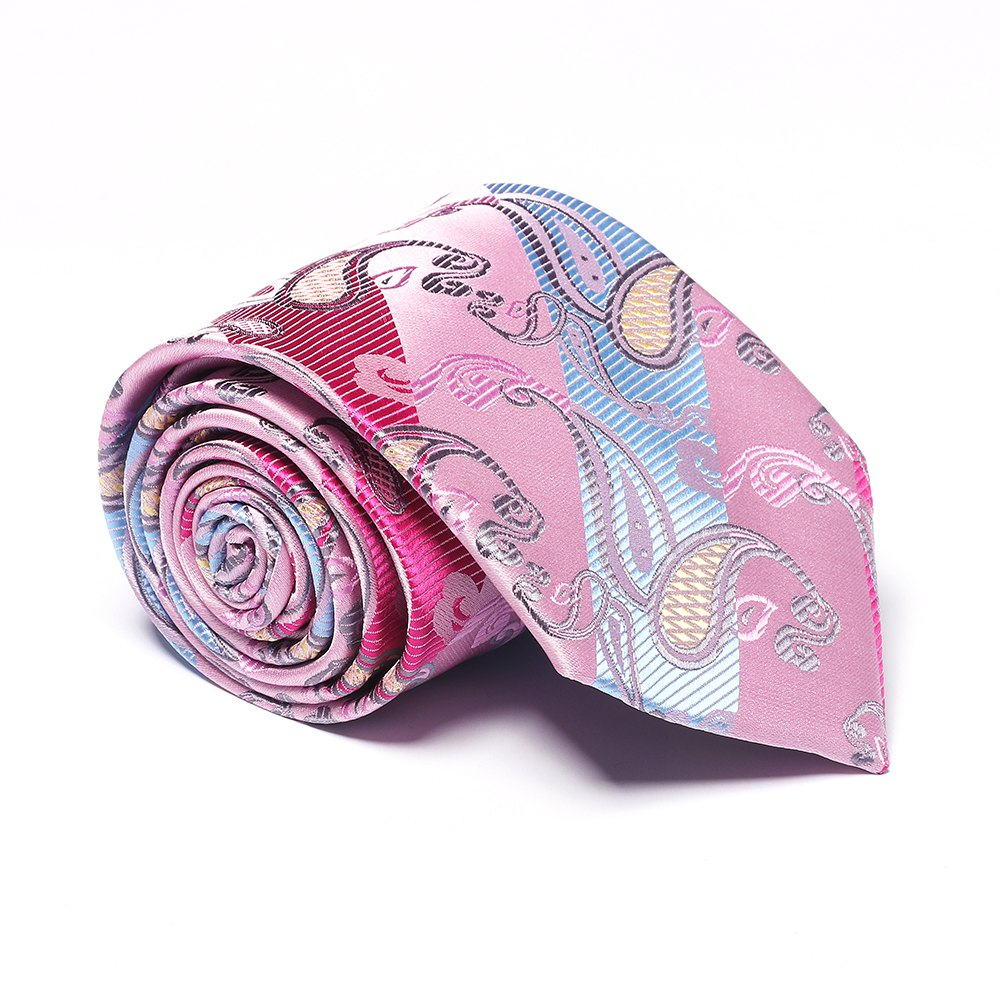 New Fashion Men's Business Necktie Cashews Pattern Tie - PINKBLUE
