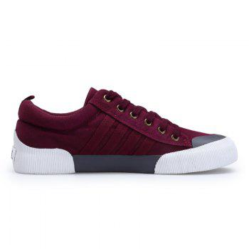 Light Extends Leisure Free Fashion Canvas Shoes - RED RED