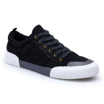 Light Extends Leisure Free Fashion Canvas Shoes - BLACK BLACK