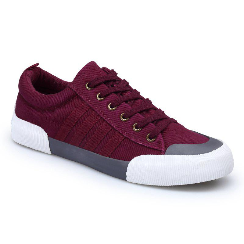 Light Extends Leisure Free Fashion Canvas Shoes - RED 40