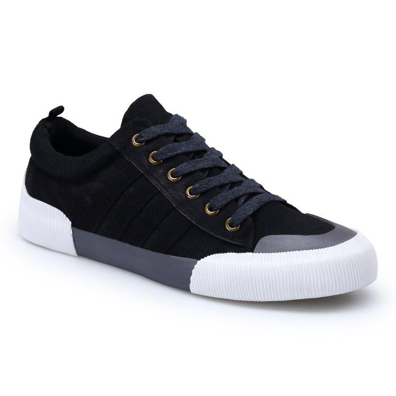 Light Extends Leisure Free Fashion Canvas Shoes - BLACK 40