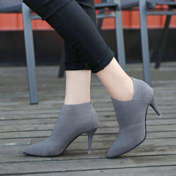 TJ-196Ms Han All-Match Pointed Stiletto Boots - GRAY GRAY
