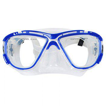 Professional Diving Silicone Mask Snorkel Set - BLUE BLUE