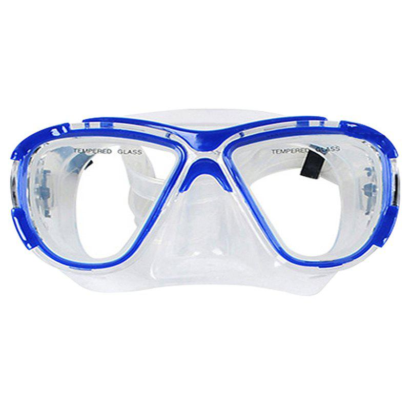 Professional Diving Silicone Mask Snorkel Set - BLUE