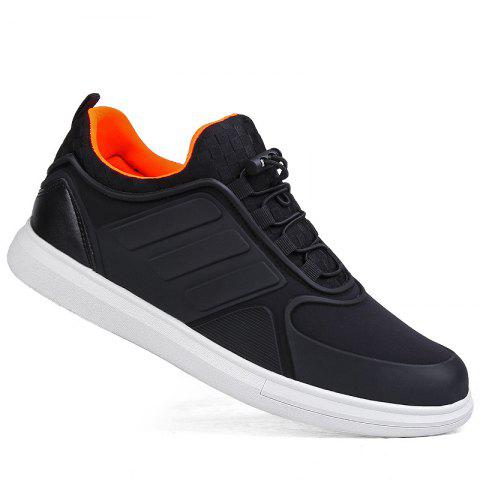 Men Casual Trend for Fashion Outdoor Winter Lace Up Pu Rubber Soft Shoes - ORANGE 43