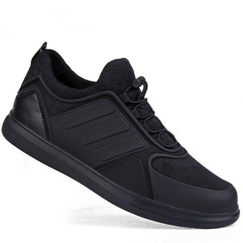 Men Casual Trend for Fashion Outdoor Winter Lace Up Pu Rubber Soft Shoes - BLACK 40
