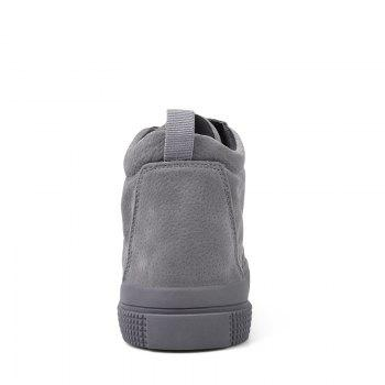 Men Casual Trend for Fashion Outdoor Winter Leather Lace Up Pu Rubber Soft Shoes - GRAY GRAY