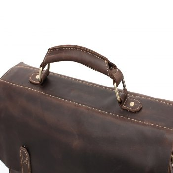 AUGUR Hot Selling Genuine Leather Briefcase Men Handbag Messenger Business Computer Bag -  DEEP BROWN