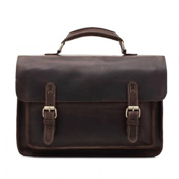 AUGUR Hot Selling Genuine Leather Briefcase Men Handbag Messenger Business Computer Bag - DEEP BROWN DEEP BROWN