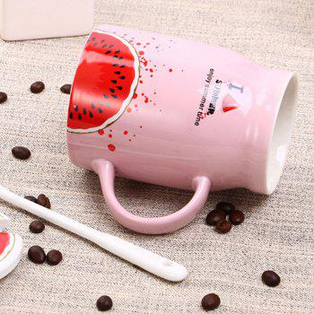 400Ml Summer Profusion Creative Ceramic Cup - WATERMELON RED