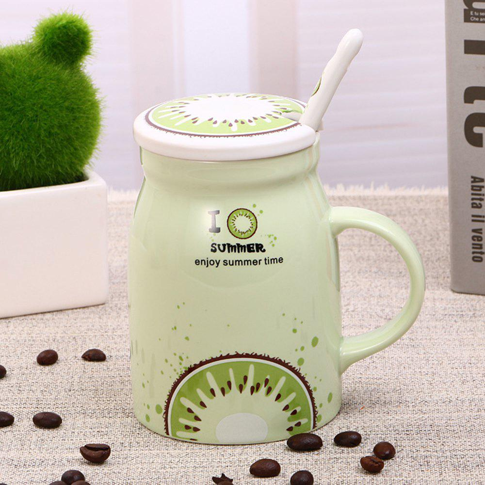 400Ml Summer Profusion Creative Ceramic Cup - LIGHT GREEN