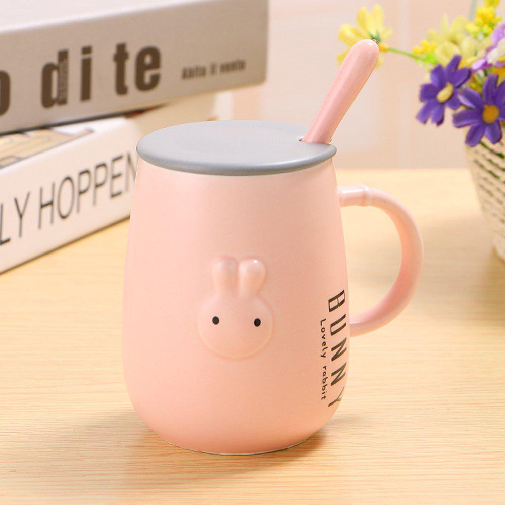 400ML Tasse de lapin mignon en relief Creative - Rose
