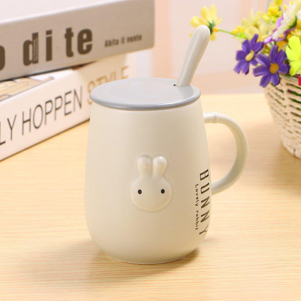 2018 400ml tasse de lapin mignon en relief creative blanc cass in verres tasses gobelets. Black Bedroom Furniture Sets. Home Design Ideas