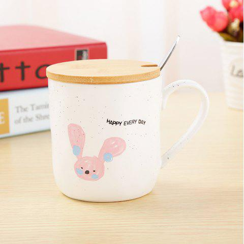 400ML Cartoon Animal Ceramic Mug - COLORMIX