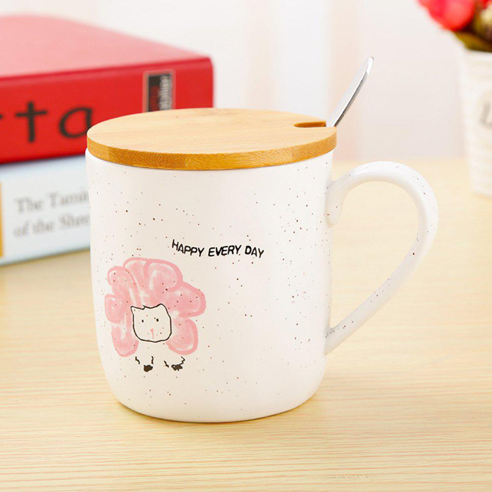 400ML Cartoon Animal Ceramic Mug - PINK