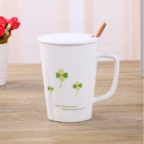 Tasse fleur simple de 360ML - Vert