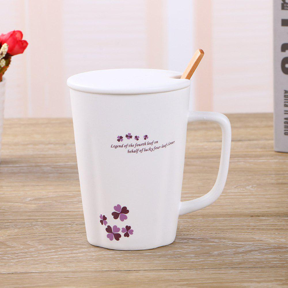 360ML Simple Flower Mug - PURPLE