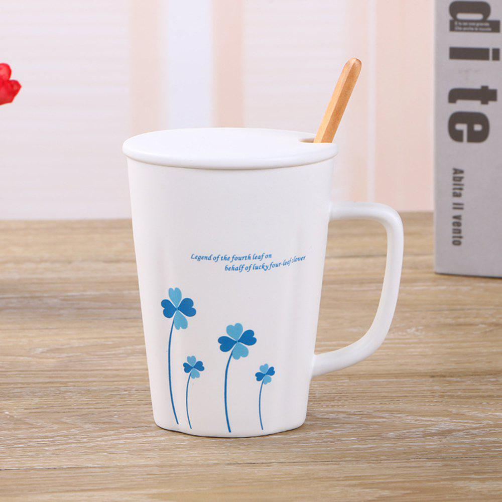 360ML Simple Flower Mug - BLUE