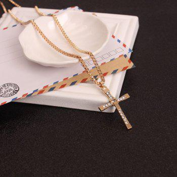Female Fashion Chain Cross Necklace - GOLD