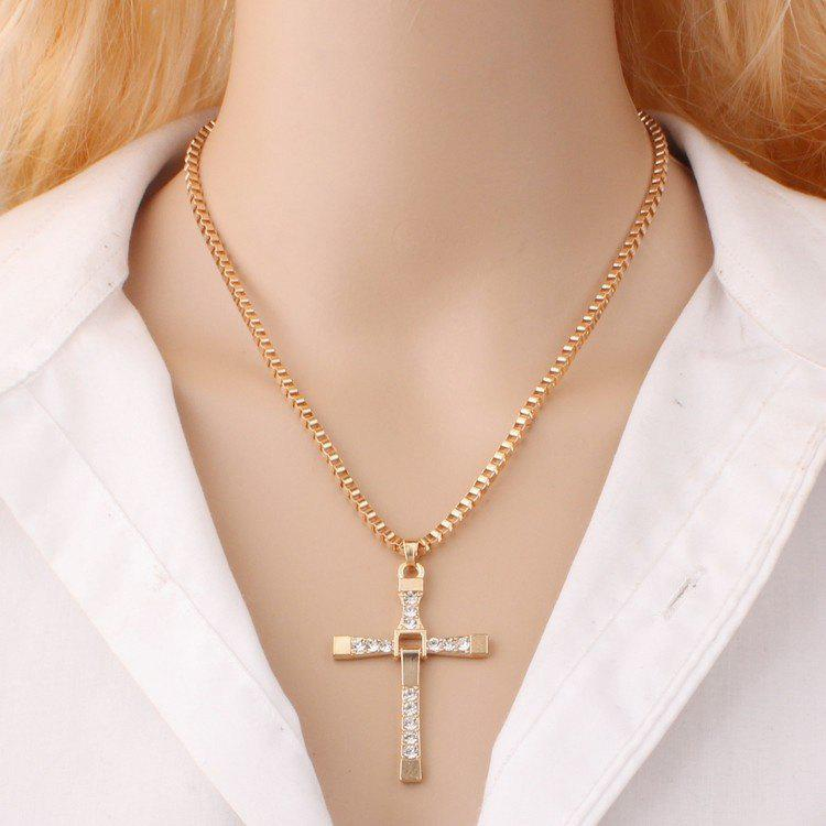Female Fashion Chain Cross Necklace - SILVER