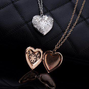 Female Fashion Lovers Love Pendant Necklace - GOLD
