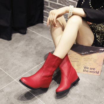 Short Leisure Work Boots for Women - RED RED