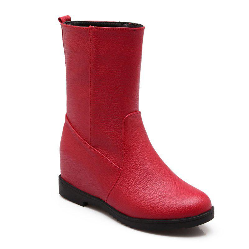 Short Leisure Work Boots for Women - RED 37