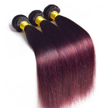 Brazilian Ombre  Color 2 Tone 1B/99J Human Hair Weave 1 Piece / 100g