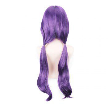 80cm Long Straight Hair Purple Color Anime Cosplay / Halloween Party Wig for Women -  PURPLE