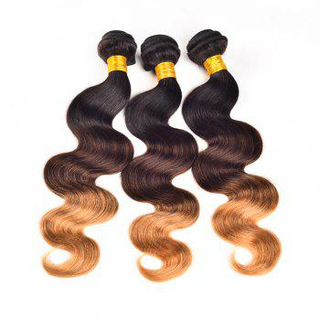 Ombre Color 3 Tone T1b / 4 / 27 Brazilian Body Wave Unprocessed Human Virgin Hair Extension 1 Bundle