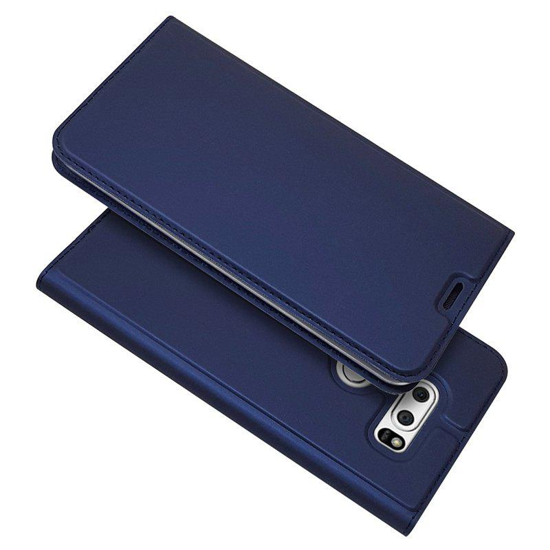 Ultra Thin Flip Magnetic Pu Leather Phone Cover For Lg V30 Navy Blue