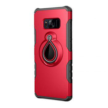 Finger Ring 360 Degree Stent Armor PC + TPU Protective Case Cover for Samsung Galaxy S8 - RED RED