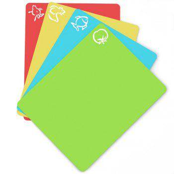 Extra Thick Flexible Plastic Cutting Board 4PCS - COLORFUL COLORFUL