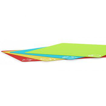 Extra Thick Flexible Plastic Cutting Board 4PCS - COLORFUL