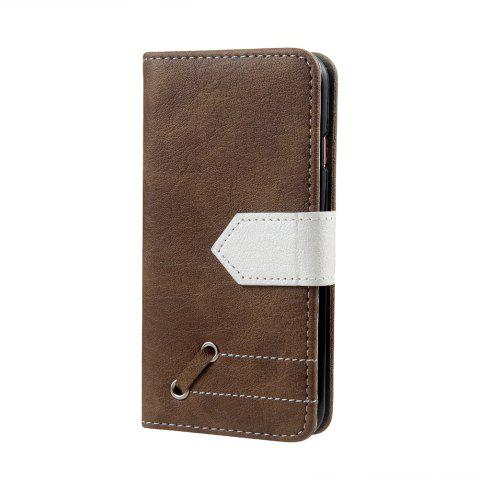 Vintage Small Hit Color PU Leather Wallet Case for iPhone 6 - KHAKI