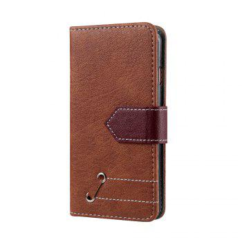 Vintage Small Hit Color PU Leather Wallet Case for iPhone 6 Plus - BROWN
