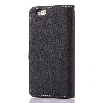 Vintage Small Hit Color PU Leather Wallet Case for iPhone 6 Plus - BLACK
