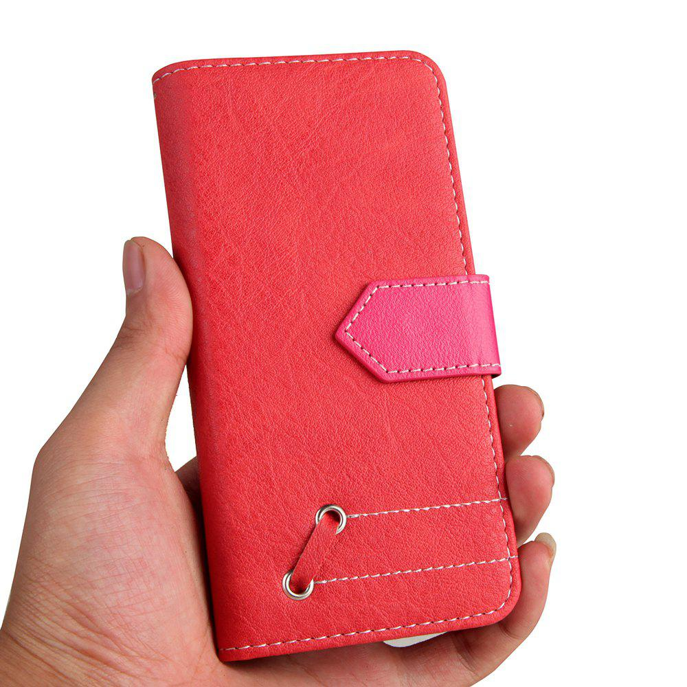 Vintage Small Hit Color PU Leather Wallet Case for Samsung Galaxy S8 - RED