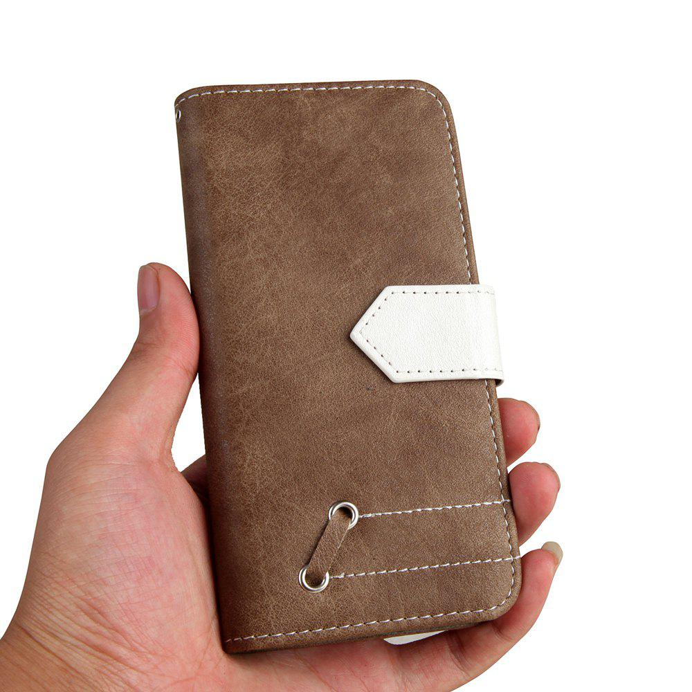 Vintage Small Hit Color PU Leather Wallet Case for Samsung Galaxy S8 - KHAKI