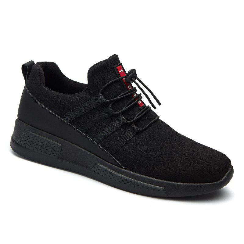 Autumn and Winter Casual Breathable Non Slip Men Shoes FULL BLACK